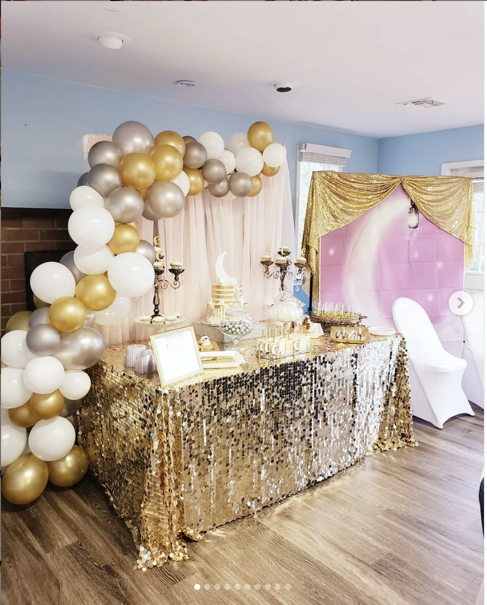 gold and silver treat table trues story events